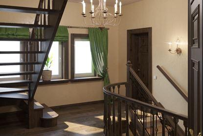 Изображение Визуализация дубовой лестницы